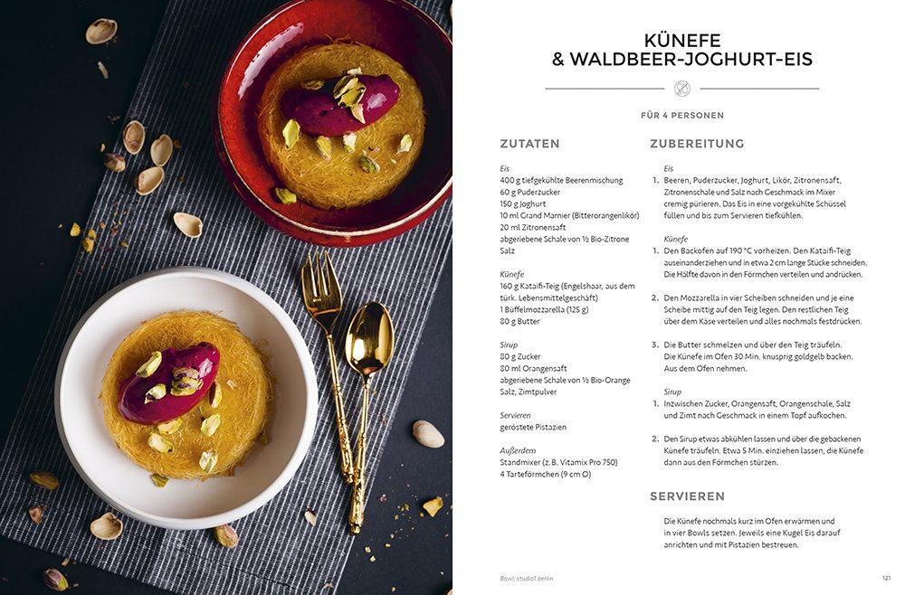 Künefe & Walsbeer-Joghurt-Eis