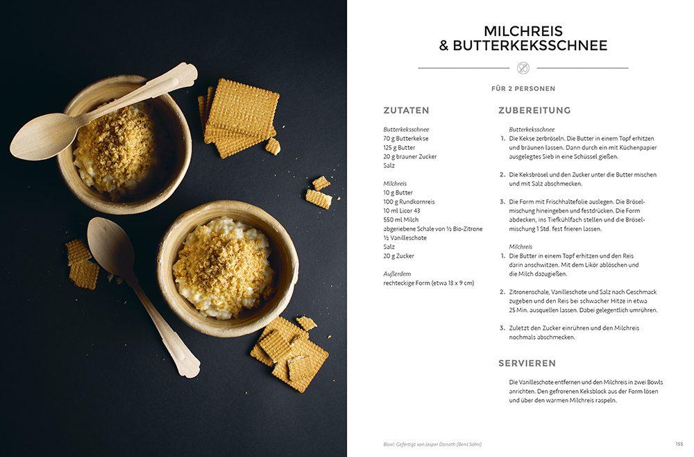 Milchreis & Butterkeksschnee