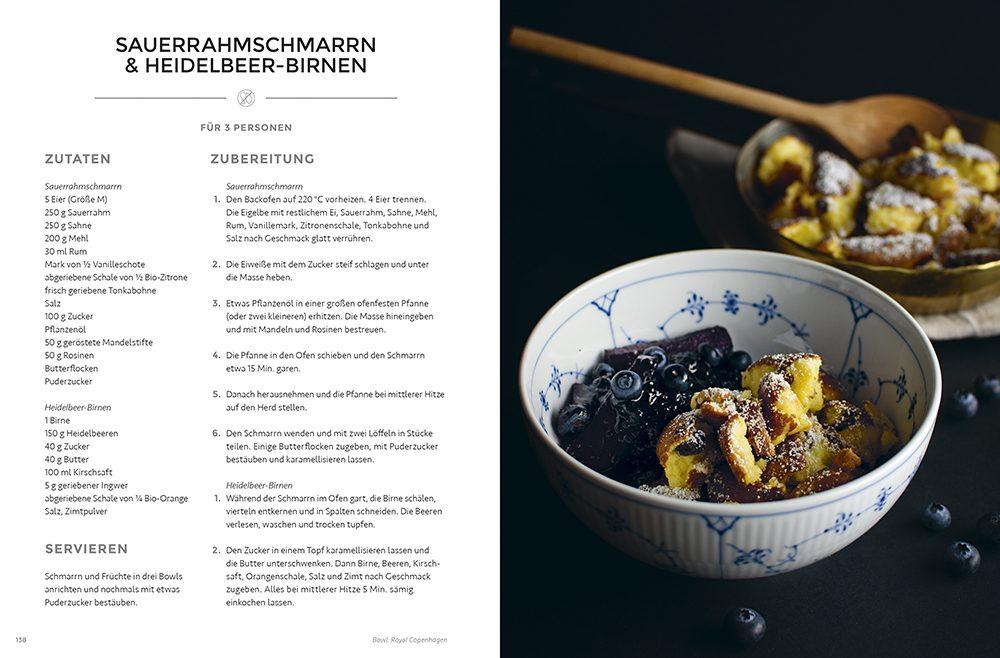 Sauerrahmschmarrn & Heidelbeer-Birnen