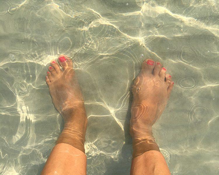 Herrlich warm und kristallklar - das Wasser in der Bucht