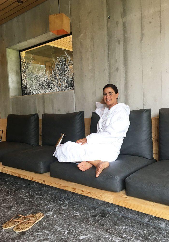 Relaxen nach der Bio-Sauna