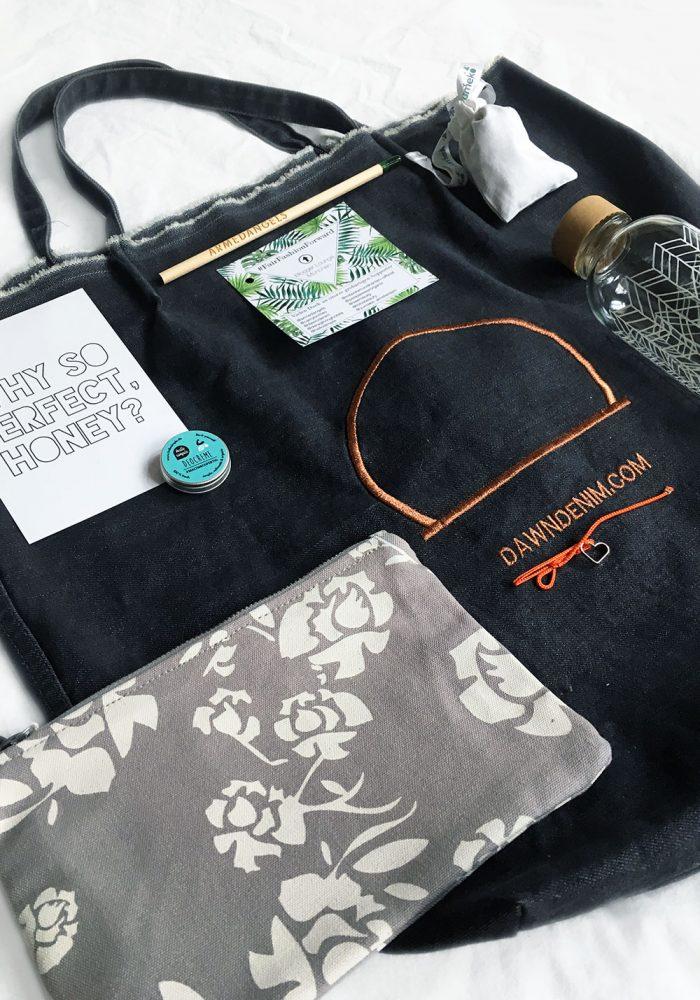 Wenn eine Goodie Bag zur Good Bag wird: Danke an unsere Supporter @armedangels @carrycottles @dawndenim @hellosimple @miteckenundkanten-official @seemeorg @yumeko_amsterdam