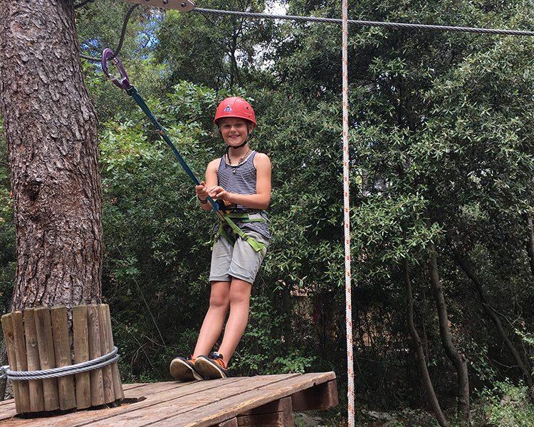 Adventure pur: meine Tochter im Hochseilgarten