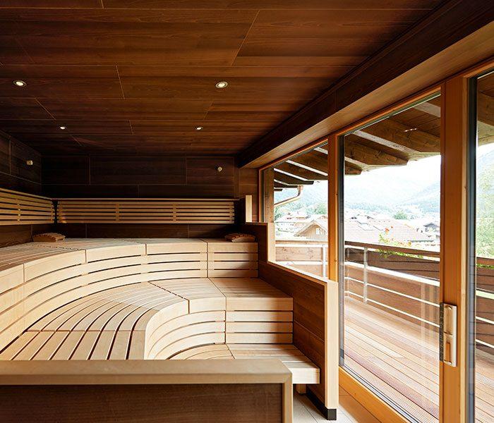 Die Panorama-Sauna im Ladies Spa. (c) Schüle's