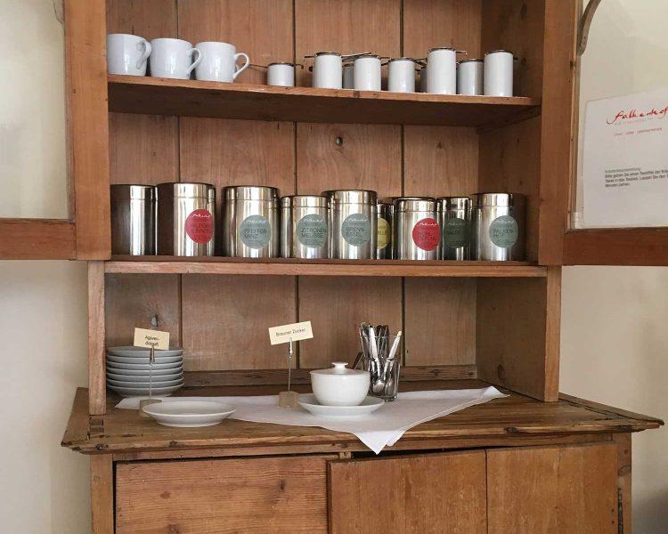 Einladend: die Tee-Bar