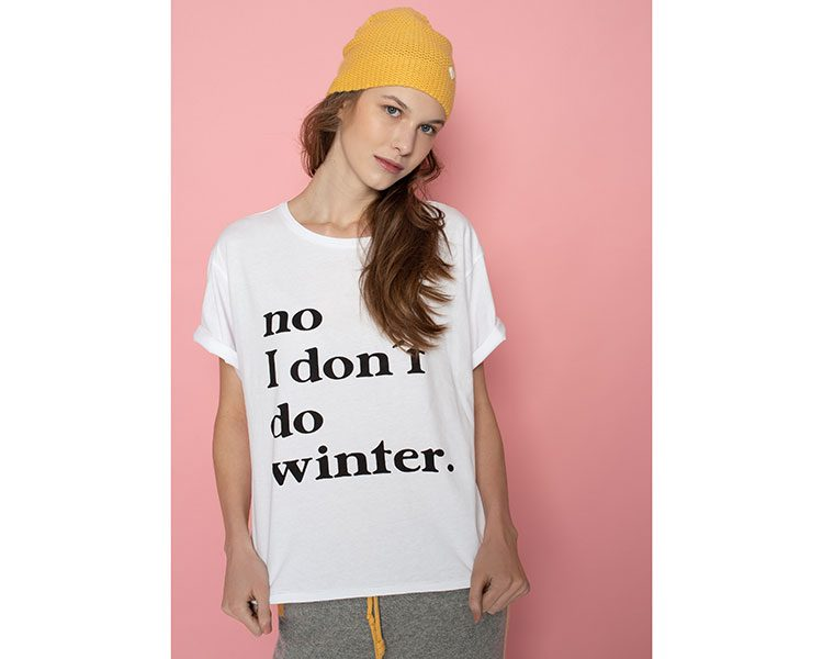 "Statement-Shirt ""I don't do winter"" von Another Brand, um 69 Euro."