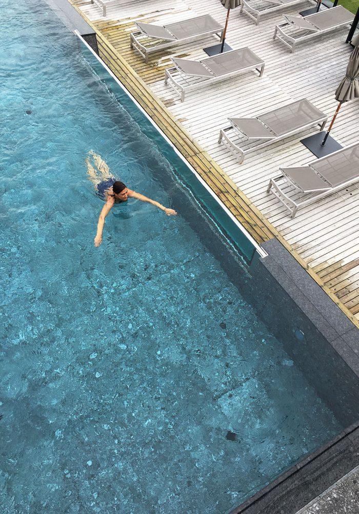 Endlich mal entspannte Bahnen schwimmen