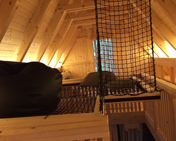 Upper floor in the treehouse