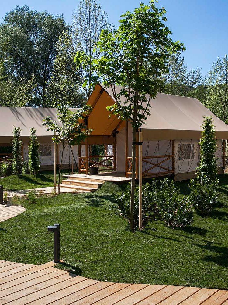 Unaufgeregt und doch luxuriös - die Safari-Zelte