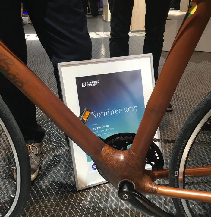 Meine persönlichen Gewinner: my Boo aus Kiel mit den famosen Bambus-Bikes
