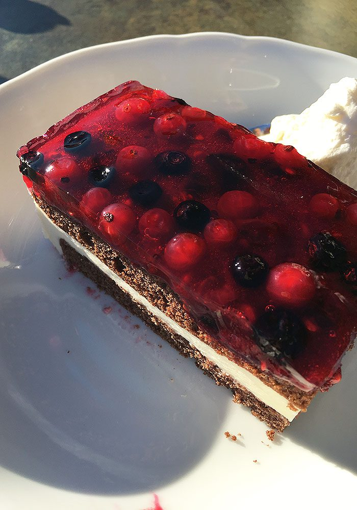 Nachmittags gibt's selbstgemachte Kuchen.