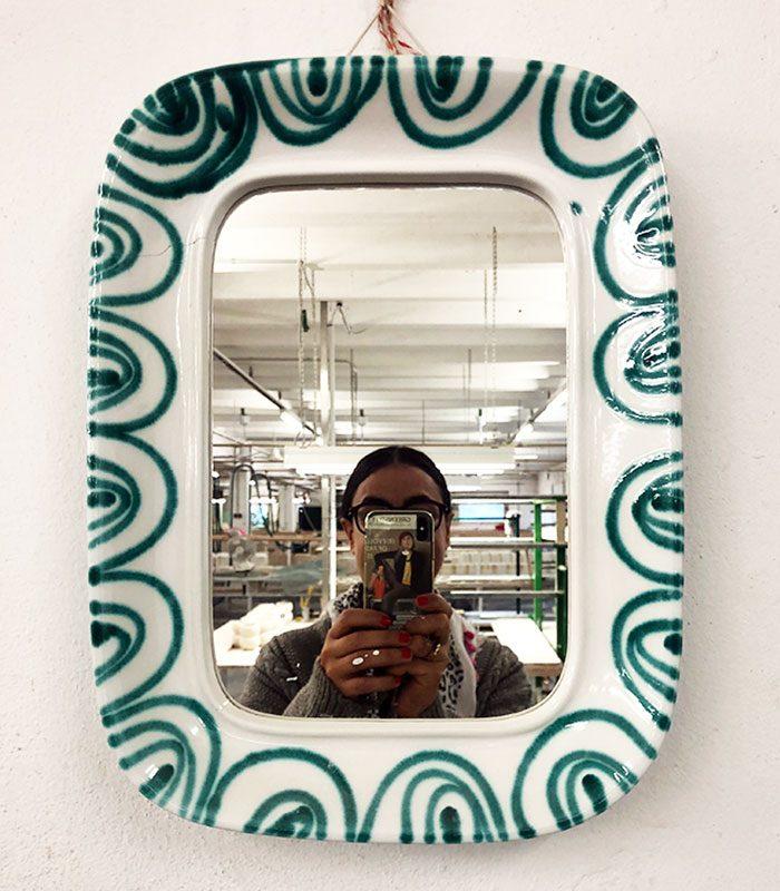 Mirrorselfie mit klassisch grüngeflammtem Spiegel.