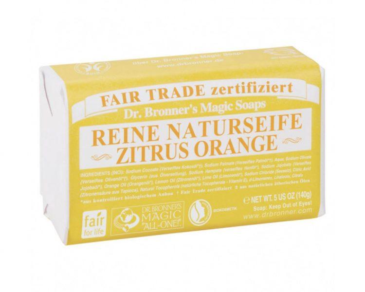 Dr. Bronner's: Stückseife Zitrone-Orange